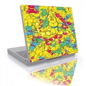 Polepová ochranná fólie SkinWard pro notebooky s 15,4'' širokoúhlým displejem, motiv zajíc