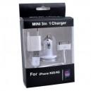 Nabíjecí sada 3v1 (klasická) pro iPhone 4