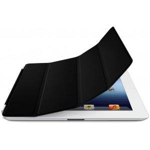 Kožené ochranné pouzdro SmartCover pro iPad 2 a New iPad 3, černý