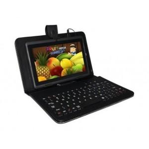 """Pouzdro Tablet 7"""" s klávesnicí microUSB, černé"""