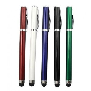 Dotykové pero 2v1 pro iPad a tablety, černé