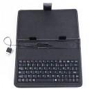 """Pouzdro Tablet 7"""" s klávesnicí USB, černé"""