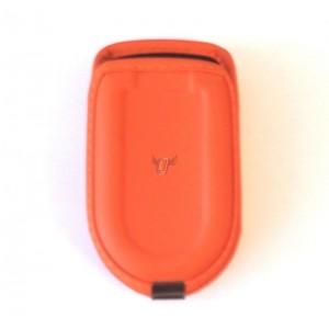 Kožené opaskové pouzdro pro V-éčka, oranžové