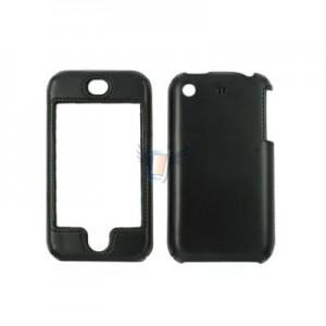 Kožené Shell Case pouzdro pro iPhone 3G, černé